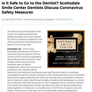 Scottsdale Smile Center dentists discuss office safety measures to reduce the risk of spreading the coronavirus.