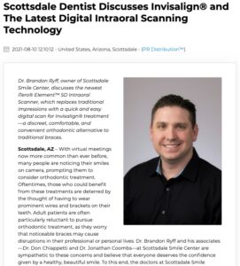 Dentist in Scottsdale discusses iTero® digital scanning technology and more discreet alternatives to traditional metal braces, including Invisalign® clear aligners.